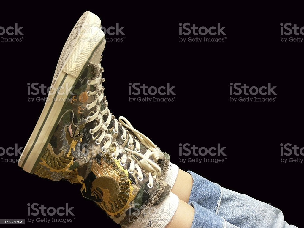 Canvas Hi-Tops stock photo
