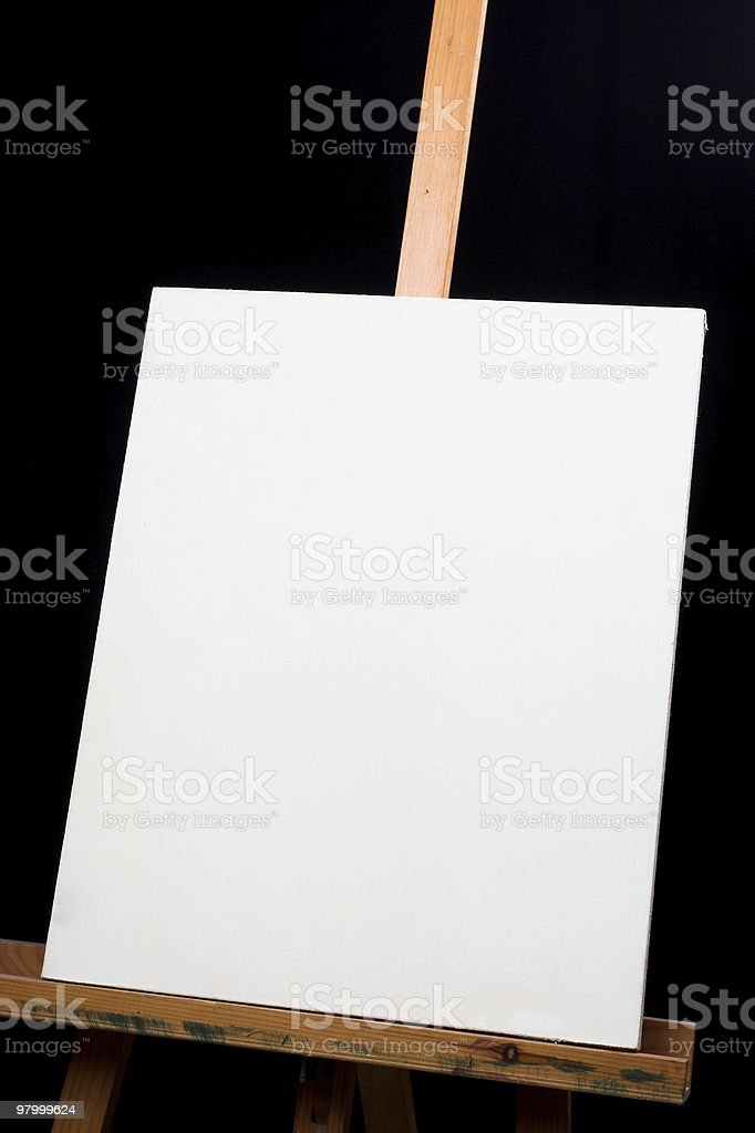 canvas on easel royalty-free stock photo