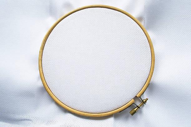 Canvas on hoop stok fotoğrafı