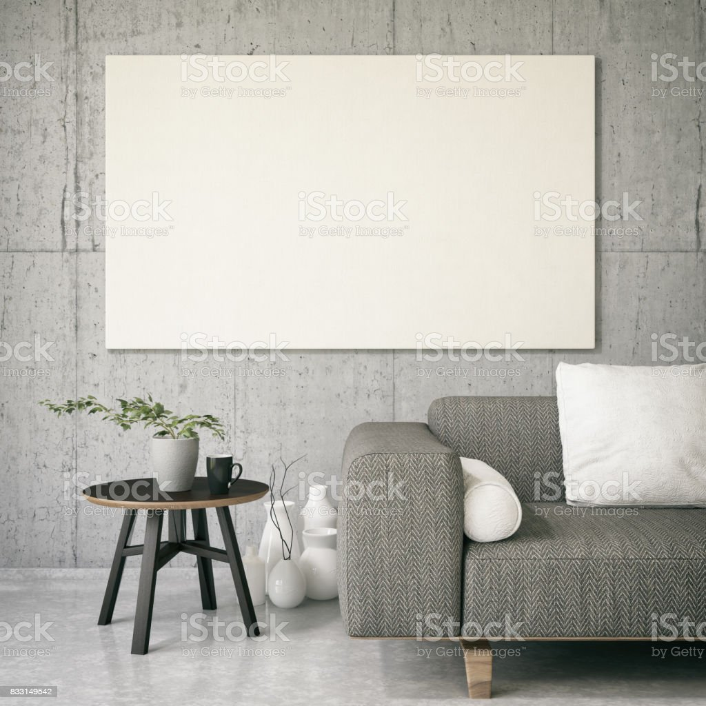 Canvas On Living Rooms Wall Stock Photo & More Pictures of Art   iStock