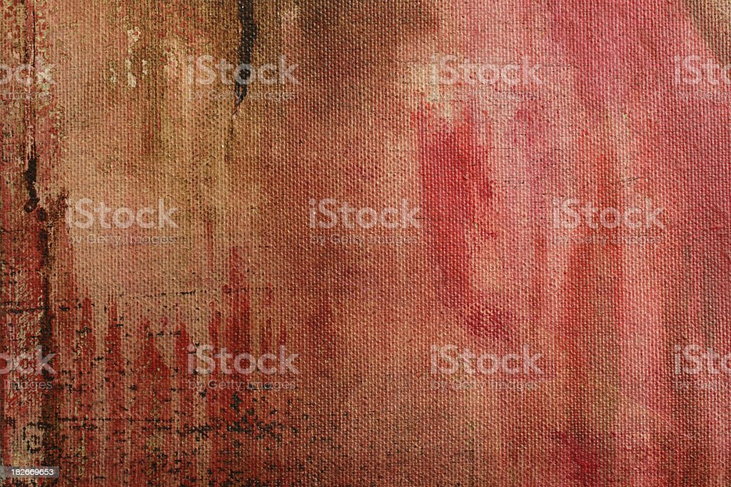 Canvas paint detail (red). royalty-free stock photo