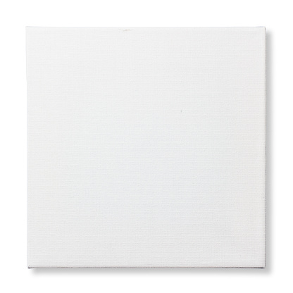 Square canvas frame isolated on white background