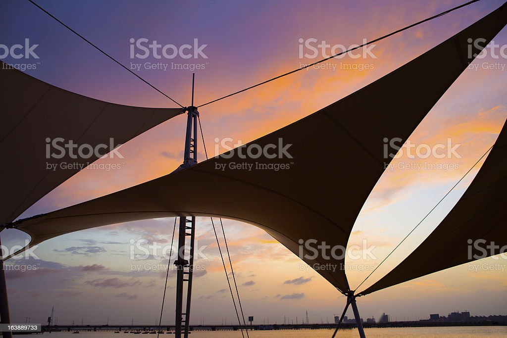 Canvas roof royalty-free stock photo