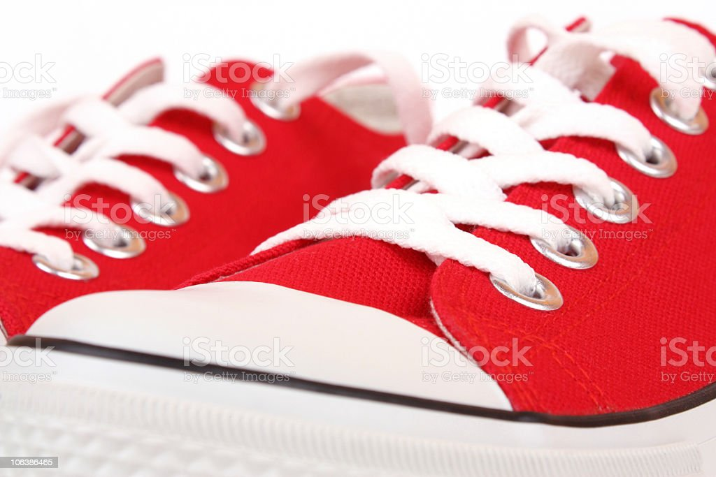 Canvas Shoe Detail royalty-free stock photo