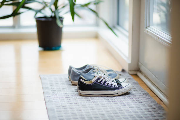 Canvas shoe stock photo