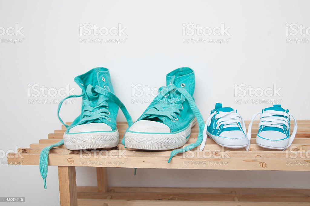 Canvas sneakers stock photo