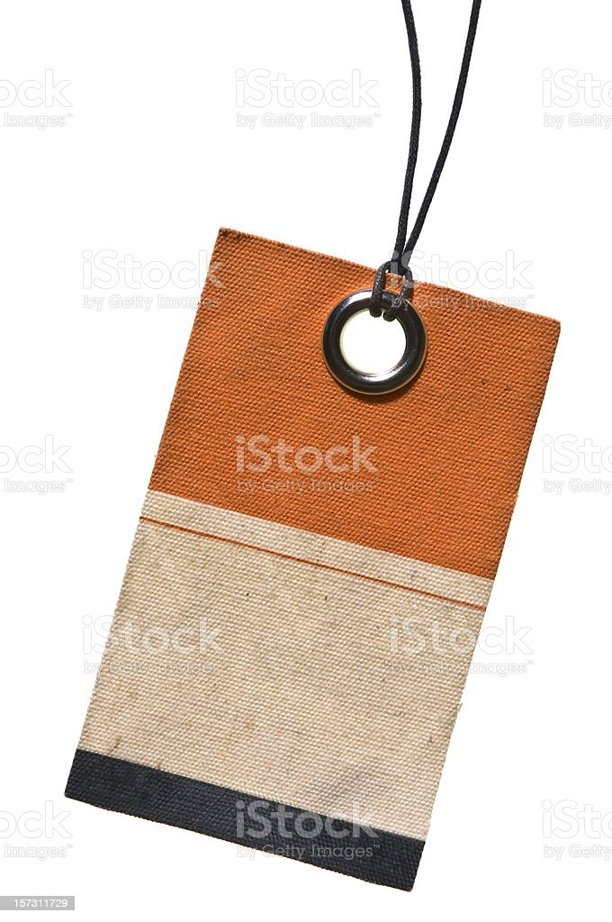 Canvas Tag With String royalty-free stock photo