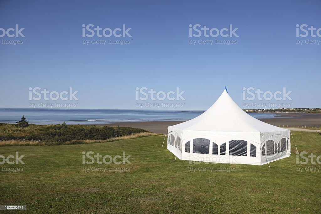 Canvas tent royalty-free stock photo