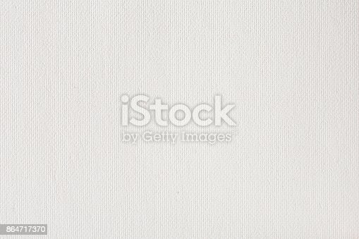 istock Canvas texture coated by white primer 864717370
