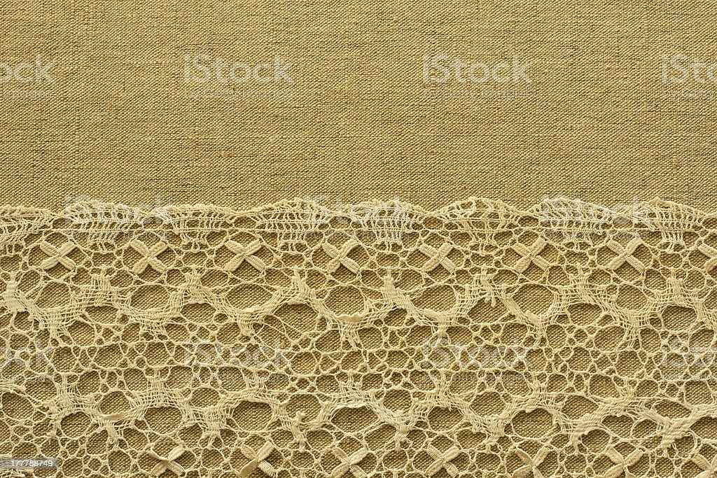 Canvas whith lace royalty-free stock photo