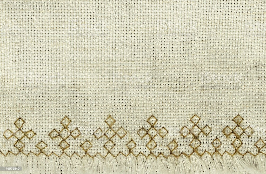 Canvas with embroidery royalty-free stock photo