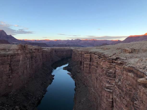 Canyon and Colorado river stock photo