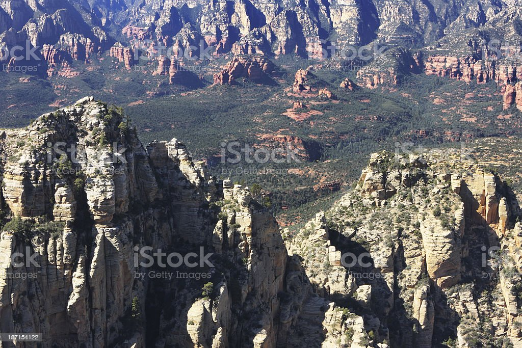 Canyon Cliffs Eroded Wilderness Landscape royalty-free stock photo
