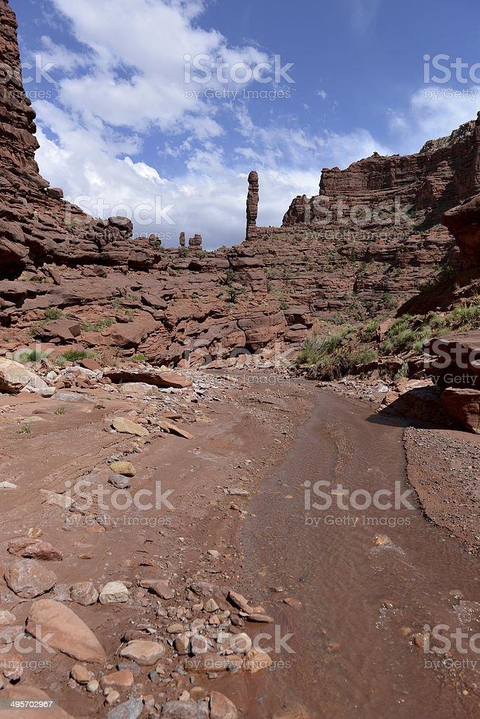 Canyon Creek - Vertical royalty-free stock photo
