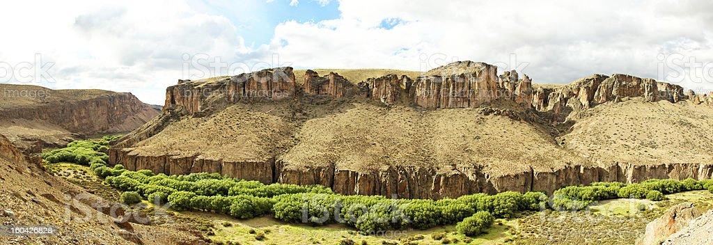Canyon Cuevas Las Manas, Patagonia, Argentina royalty-free stock photo