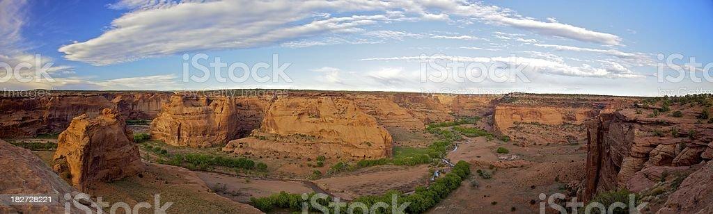 Canyon De Chelly Panoramic stock photo