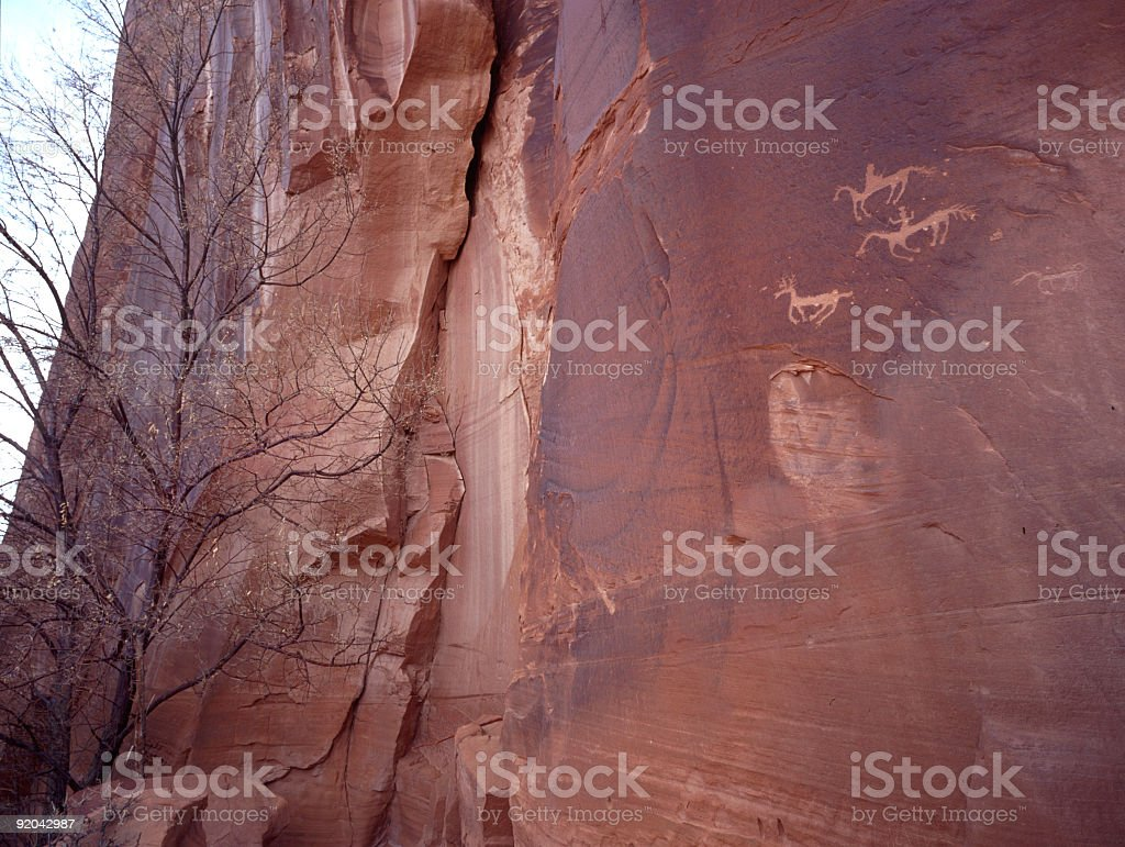 Canyon de Chelly pictographs royalty-free stock photo