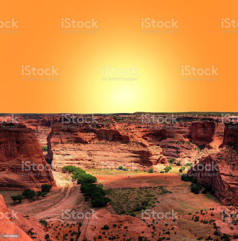 Canyon de Chelly stock photo