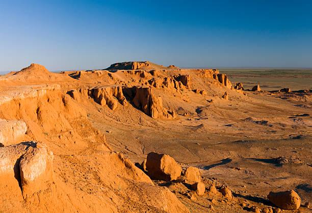 Canyon, Gobi Desert, Mongolia stock photo