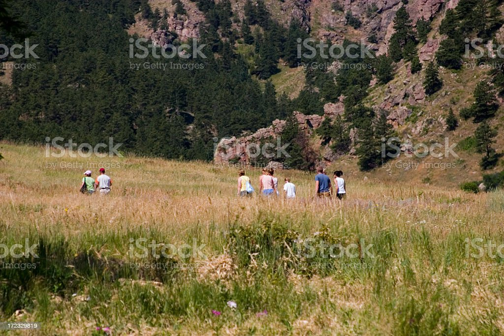 Canyon Hikers royalty-free stock photo