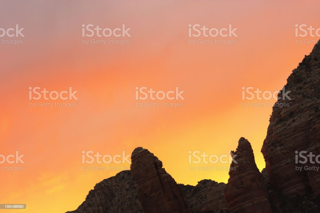 Canyon Hoodoo Ridge Sunset Sky royalty-free stock photo
