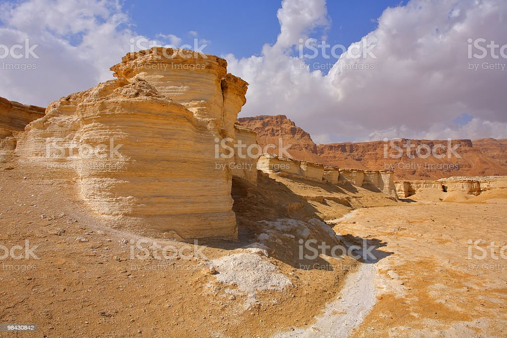 Canyon in desert near to the Dead Sea royalty-free stock photo