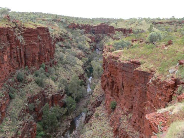 Canyon in Karijini Nationl Park in Australia stock photo