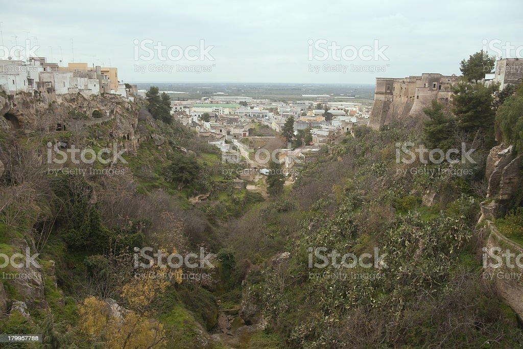 Canyon in Massafra royalty-free stock photo