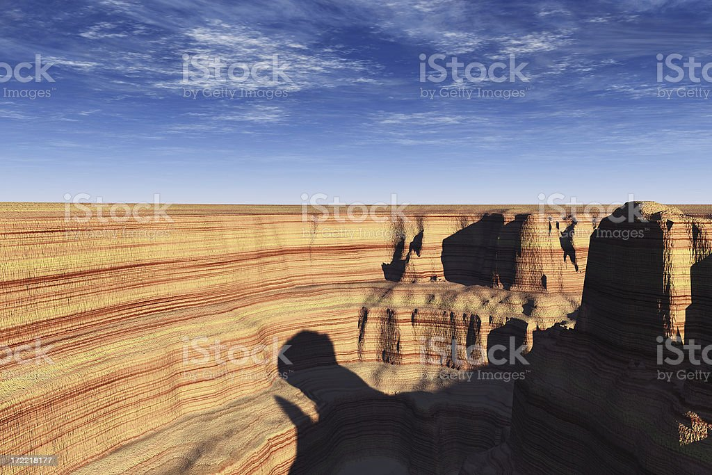 Canyon in Shadow royalty-free stock photo