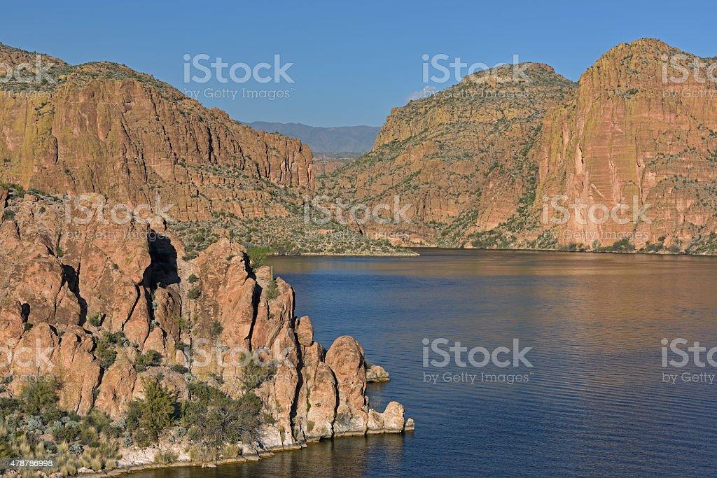 Canyon Lake, Apache Trail stock photo