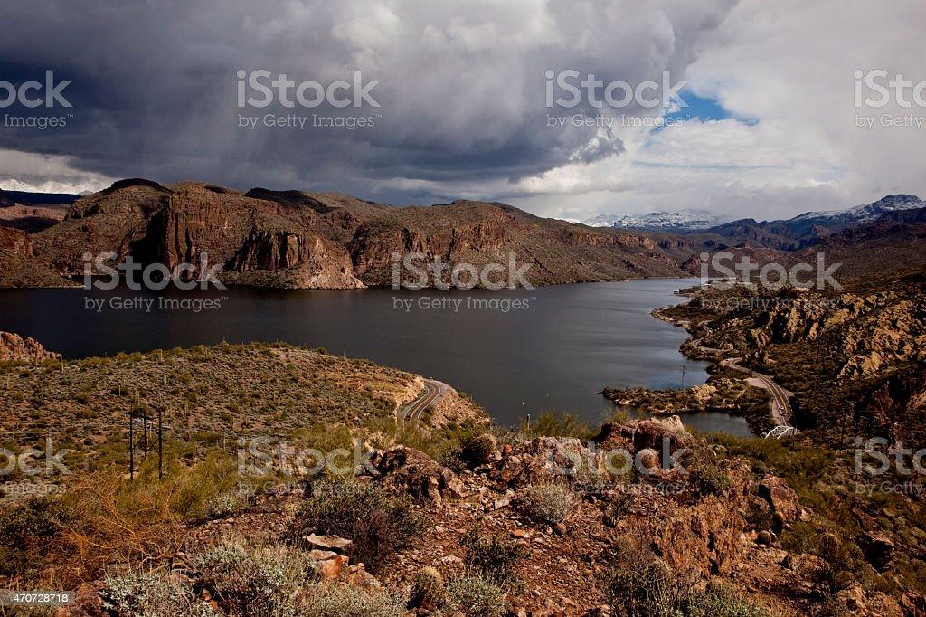 canyon Lake Near Phoenix Arizona stock photo
