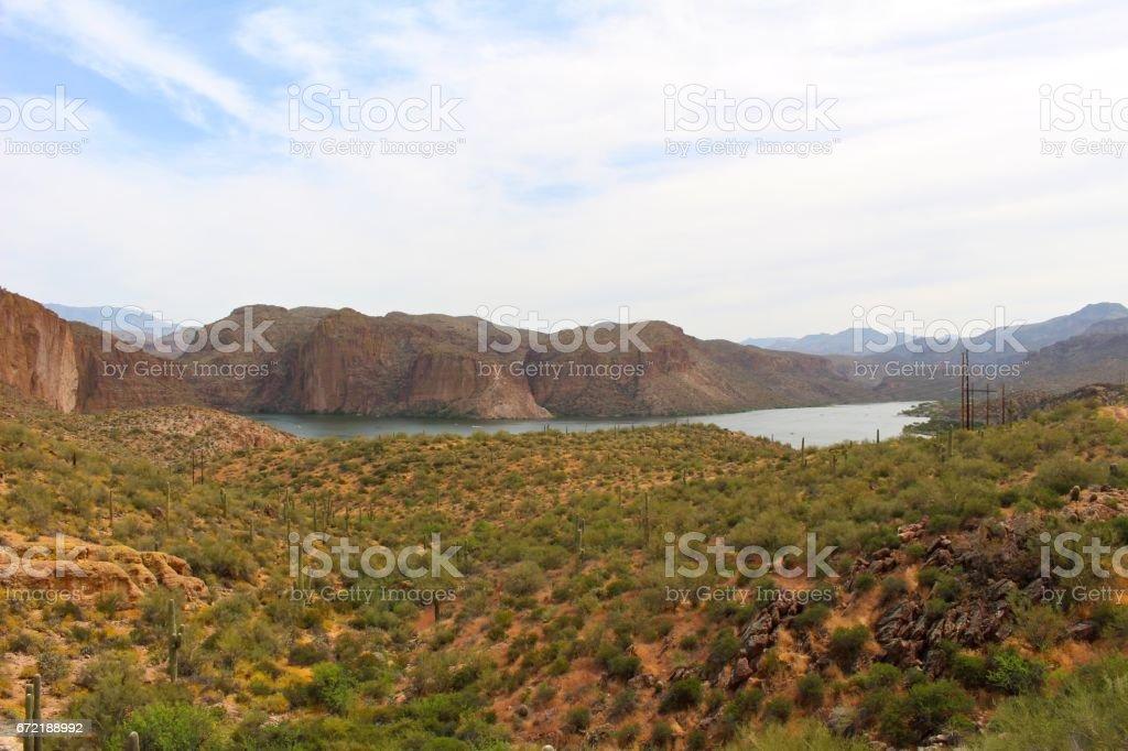 Canyon Lake stock photo