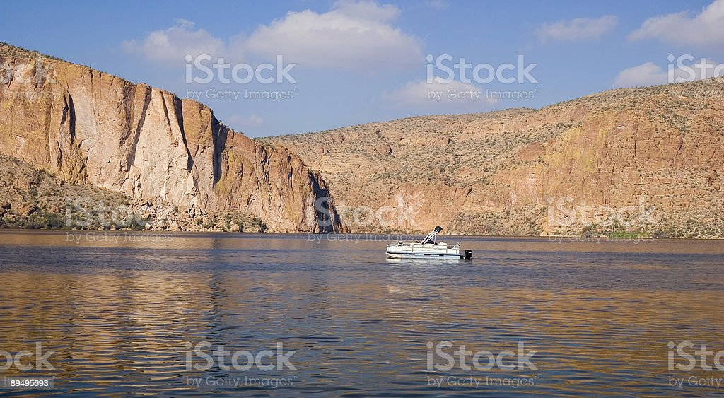 Canyon Lake Vista royaltyfri bildbanksbilder