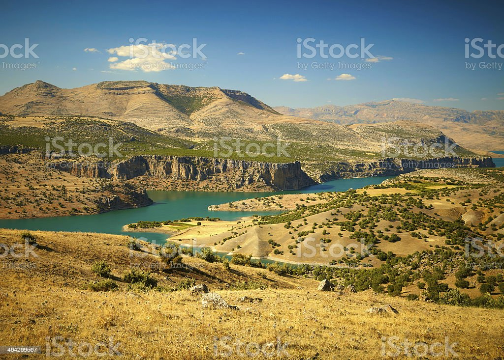 Canyon of Euphrates River. Turkey stock photo