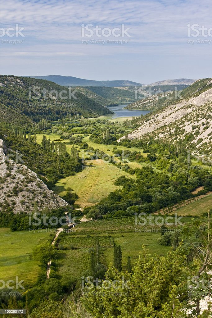 Canyon of Krka and the river royalty-free stock photo