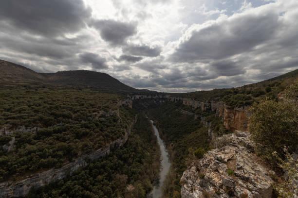 Canyon of the Ebro River stock photo