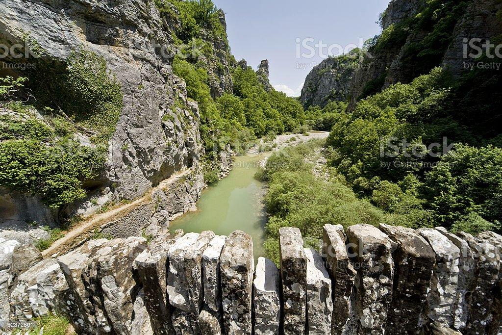 canyon of vikos royalty-free stock photo