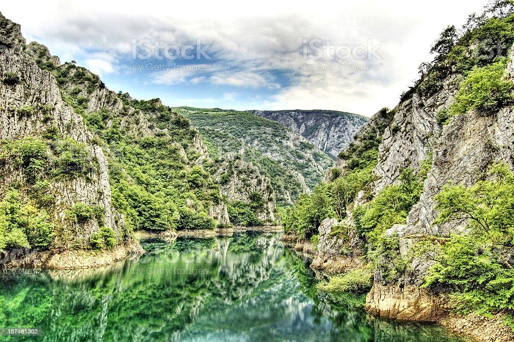 HDR Canyon royalty-free stock photo