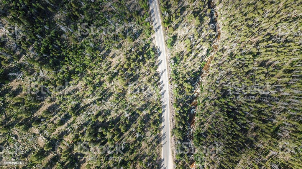Canyon road from above
