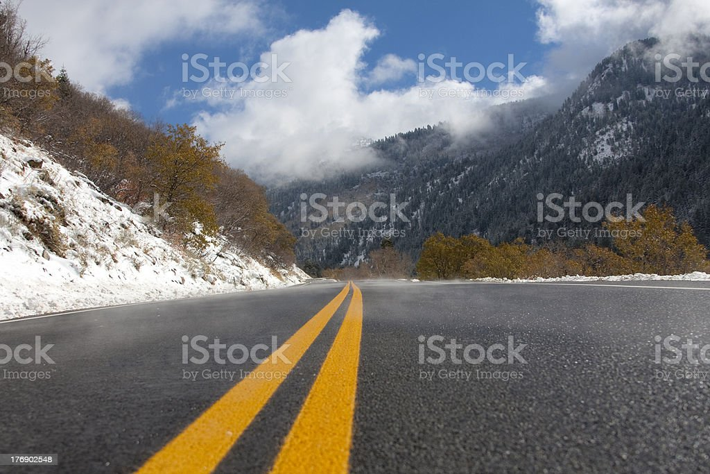 Canyon Road royalty-free stock photo