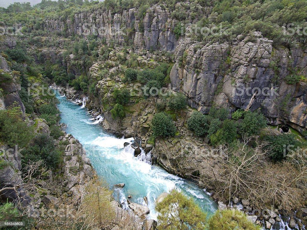 Canyon springs stock photo