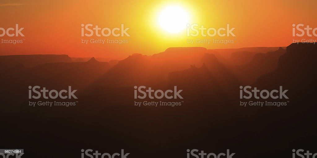 Canyon Sunset royalty-free stock photo