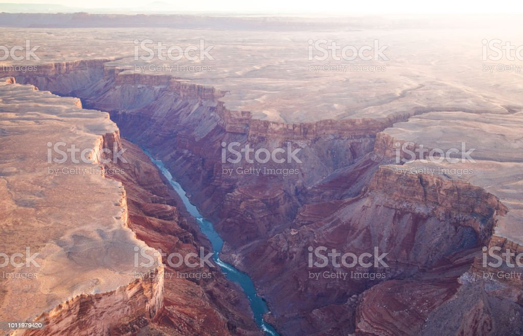 Canyon with a river royalty-free stock photo