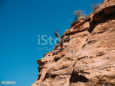 Canyoneering adventurers in Moab, Utah.