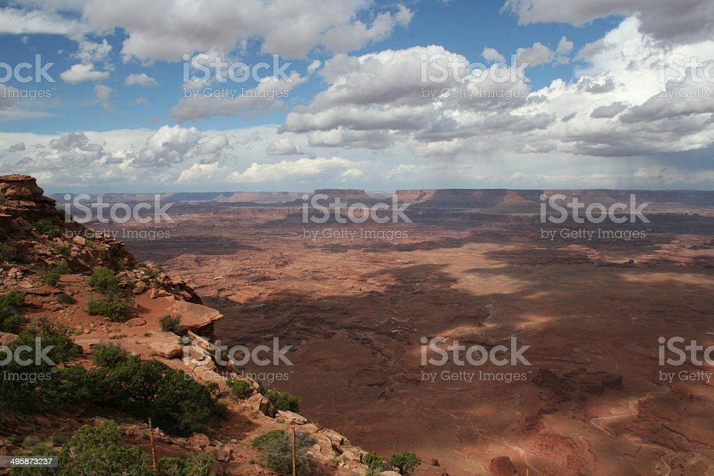 Canyonlands Needles Blick auf Lizenzfreies stock-foto