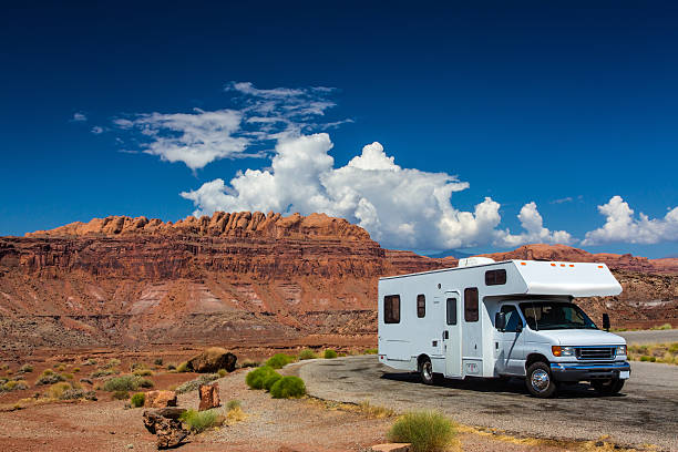 rv canyonlands - motorhome stock photos and pictures