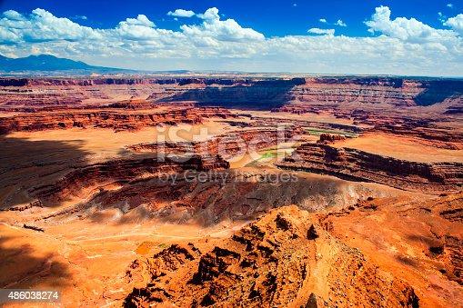 Photo of a beautiful canyon, in Utah. Canyonlands. Colorado River.