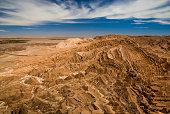 Canyons and mountains - lunar landscape at Atacama desert, Valle de la Luna, San Pedro de Atacama, Northern Chile