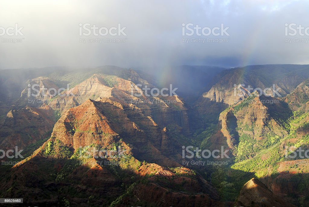 Canyons of Kauai royalty-free stock photo