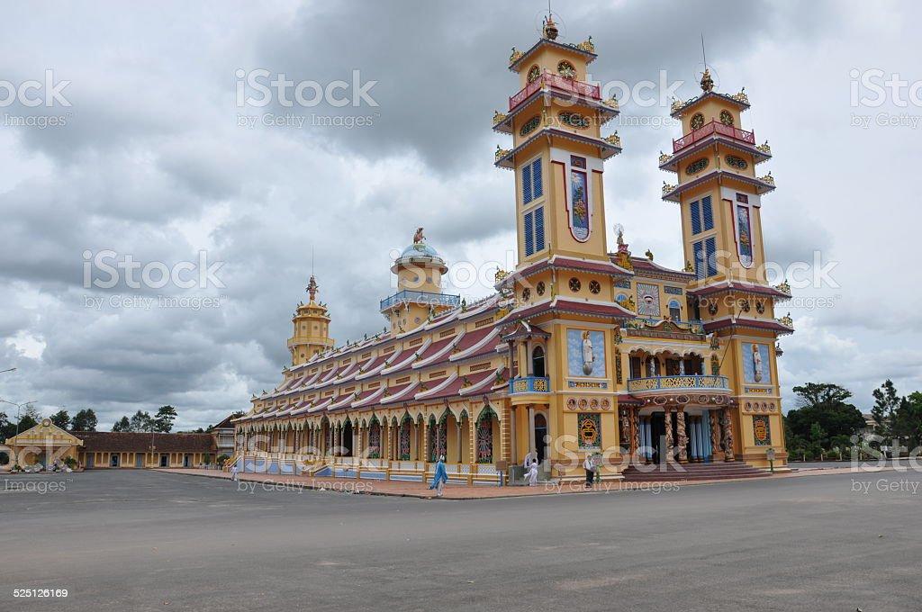 Cao Dai -Vietnam Temple stock photo